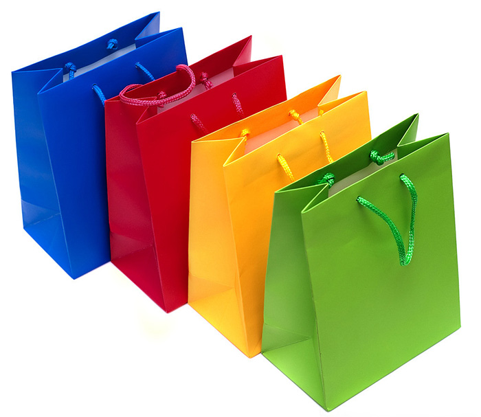Paper Shopping Bag | Full color paper bags with handels