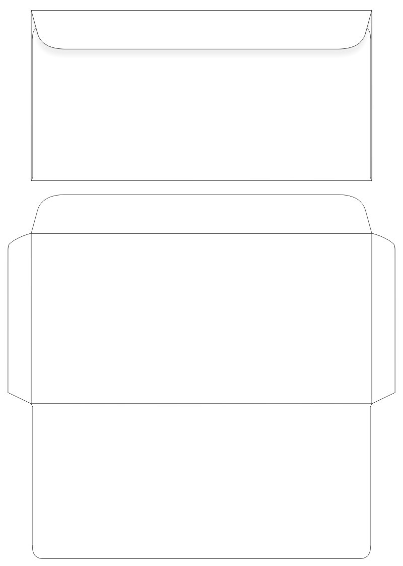 Free Santa Envelope Template Dl | New Calendar Template Site